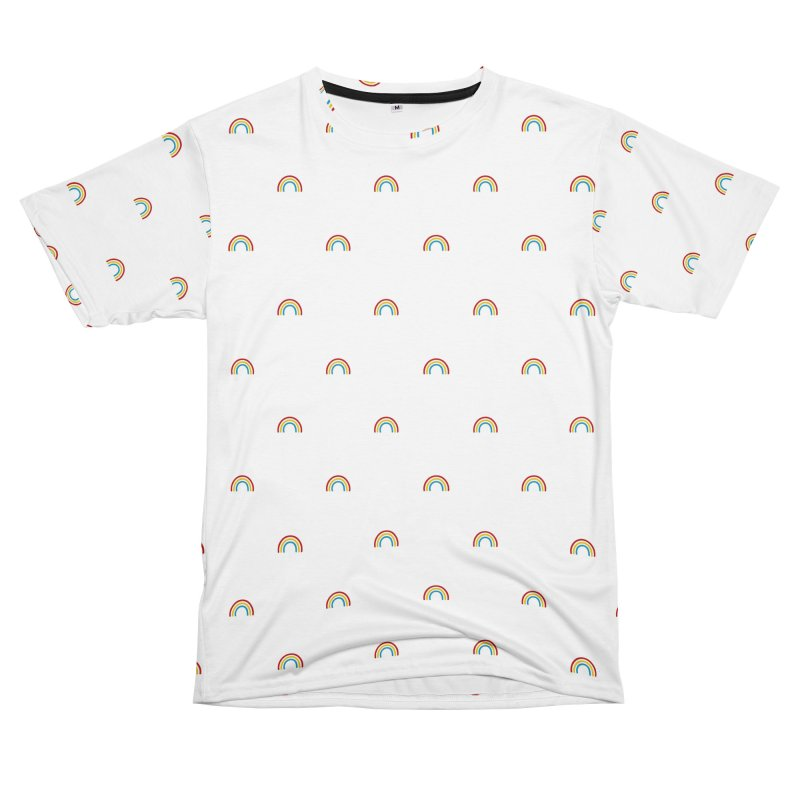 Rainbow Motif Pattern Men's Cut & Sew by Mr Loco Motif