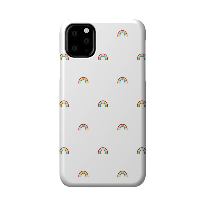 Rainbow Motif Pattern Accessories Phone Case by Mr Loco Motif