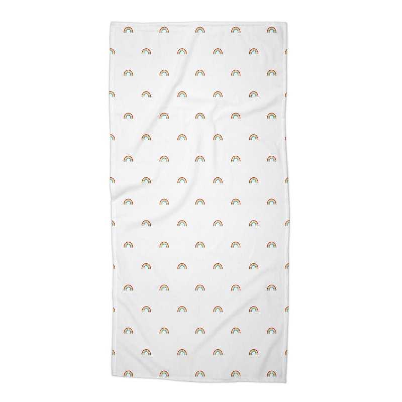 Rainbow Motif Pattern Accessories Beach Towel by Mr Loco Motif