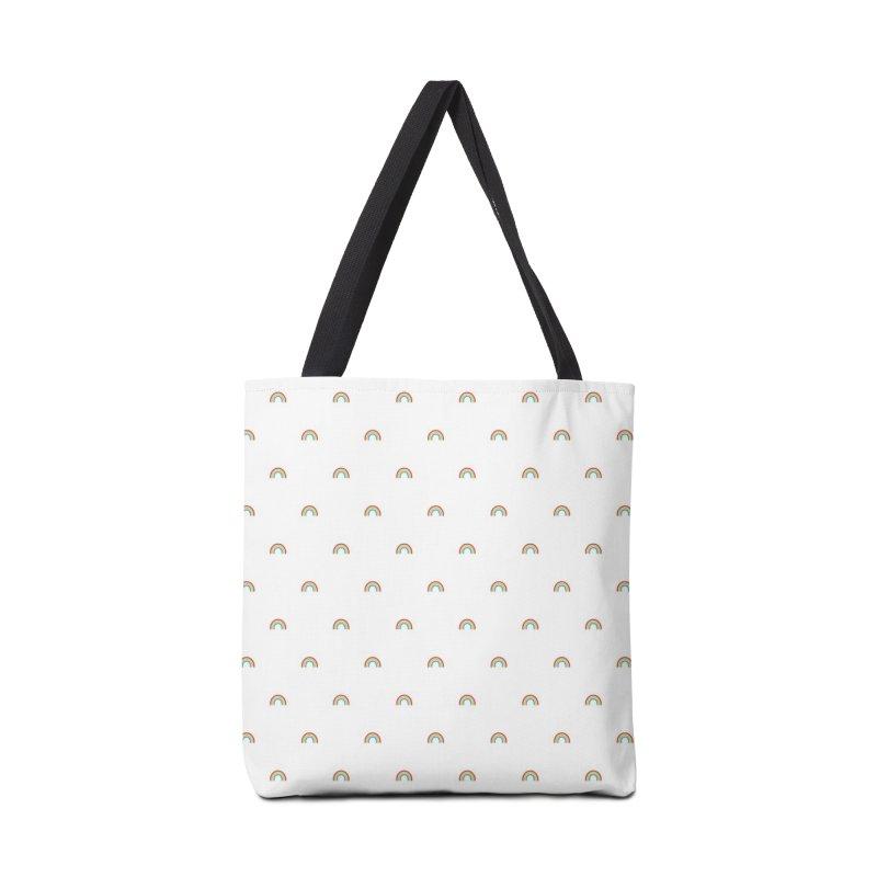 Rainbow Motif Pattern Accessories Bag by Mr Loco Motif