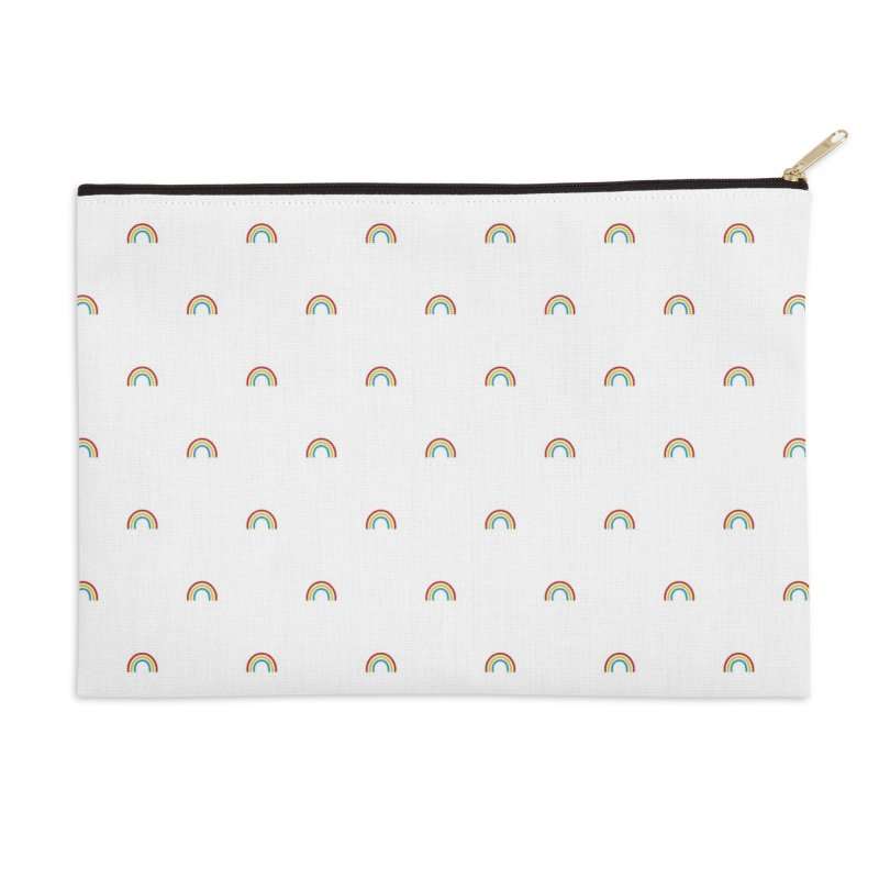 Rainbow Motif Pattern Accessories Zip Pouch by Mr Loco Motif