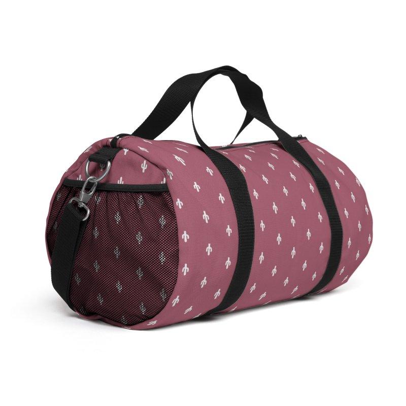 Cactus Motif Pattern Accessories Bag by Mr Loco Motif