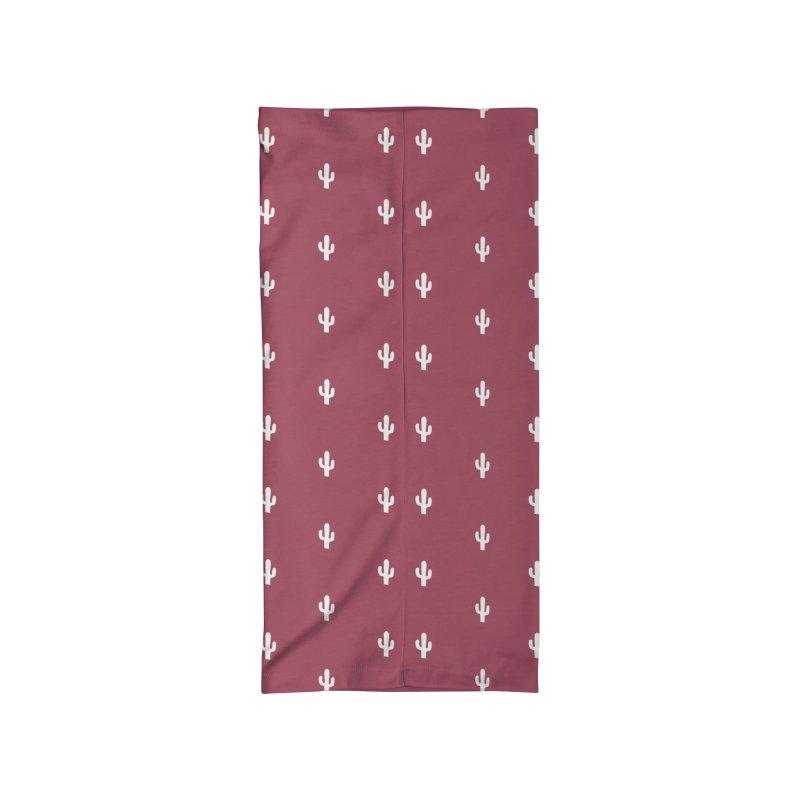 Cactus Motif Pattern Accessories Neck Gaiter by Mr Loco Motif