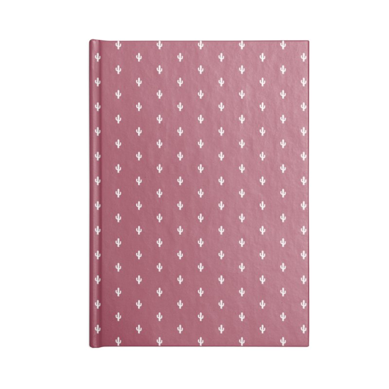 Cactus Motif Pattern Accessories Notebook by Mr Loco Motif