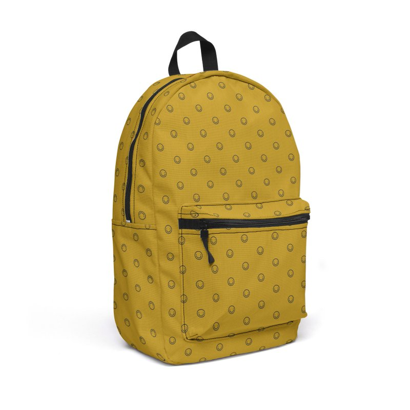 Smile Motif Pattern Accessories Backpack Bag by Mr Loco Motif - Artist Shop