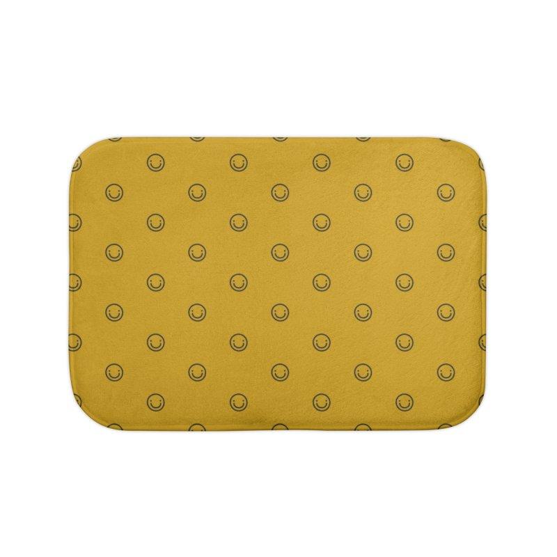 Smile Motif Pattern Home Bath Mat by Mr Loco Motif - Artist Shop