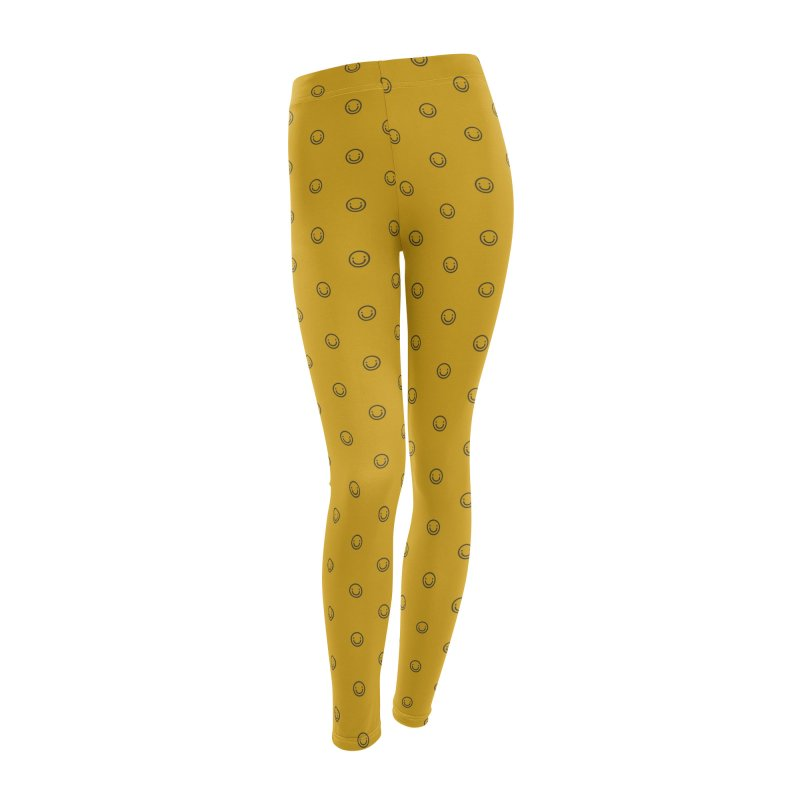 Smile Motif Pattern Women's Leggings Bottoms by Mr Loco Motif - Artist Shop