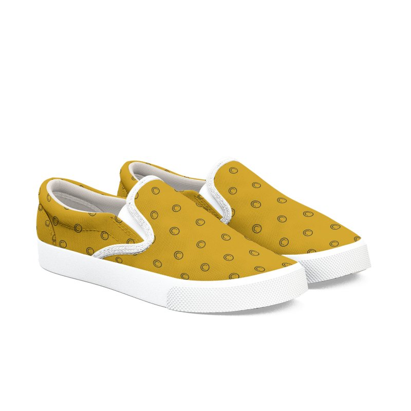 Smile Motif Pattern Men's Slip-On Shoes by Mr Loco Motif - Artist Shop