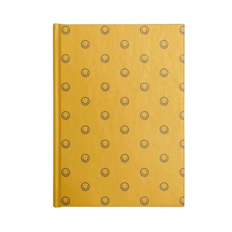 Smile Motif Pattern Accessories Blank Journal Notebook by Mr Loco Motif - Artist Shop