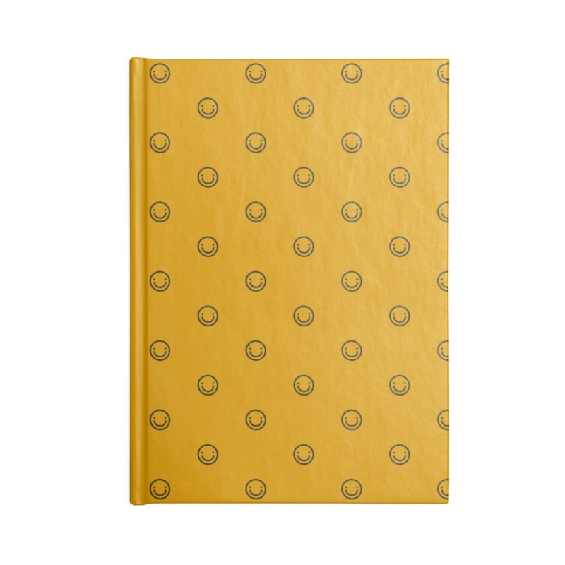 Smile Motif Pattern Accessories Lined Journal Notebook by Mr Loco Motif - Artist Shop