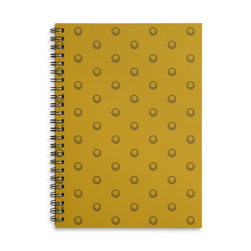 Smile Motif Pattern Accessories Lined Spiral Notebook by Mr Loco Motif - Artist Shop