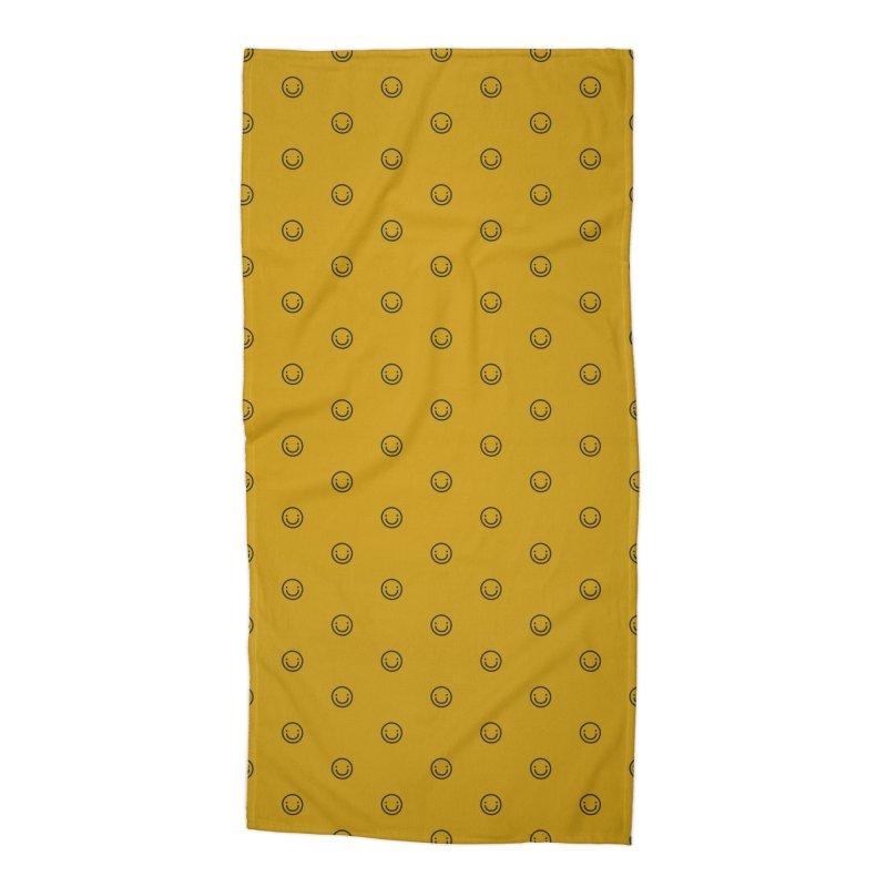 Smile Motif Pattern Accessories Beach Towel by Mr Loco Motif - Artist Shop