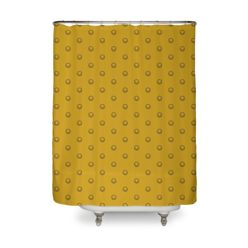 Smile Motif Pattern Home Shower Curtain by Mr Loco Motif - Artist Shop