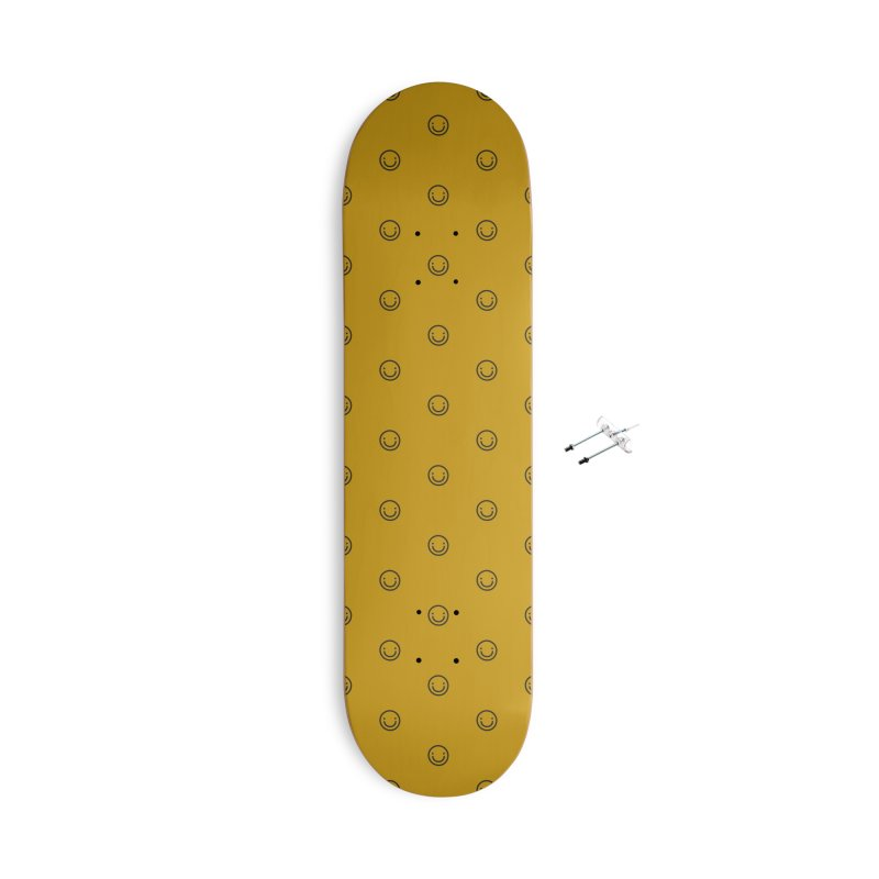 Smile Motif Pattern Accessories With Hanging Hardware Skateboard by Mr Loco Motif - Artist Shop