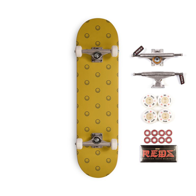 Smile Motif Pattern Accessories Complete - Pro Skateboard by Mr Loco Motif - Artist Shop