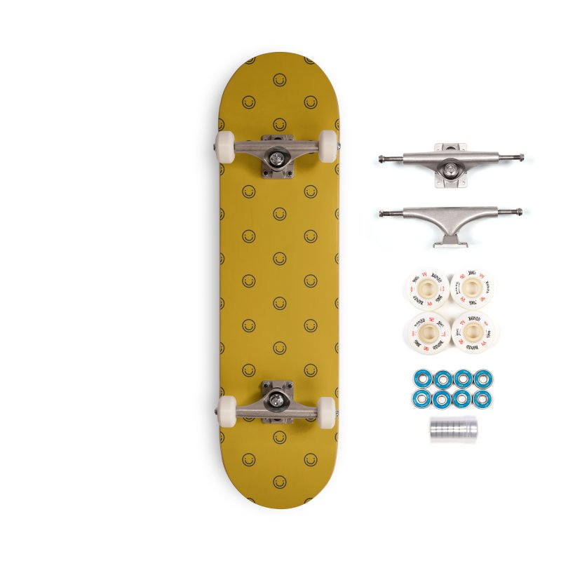 Smile Motif Pattern Accessories Complete - Premium Skateboard by Mr Loco Motif - Artist Shop