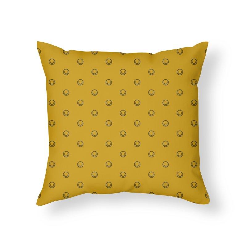 Smile Motif Pattern Home Throw Pillow by Mr Loco Motif - Artist Shop