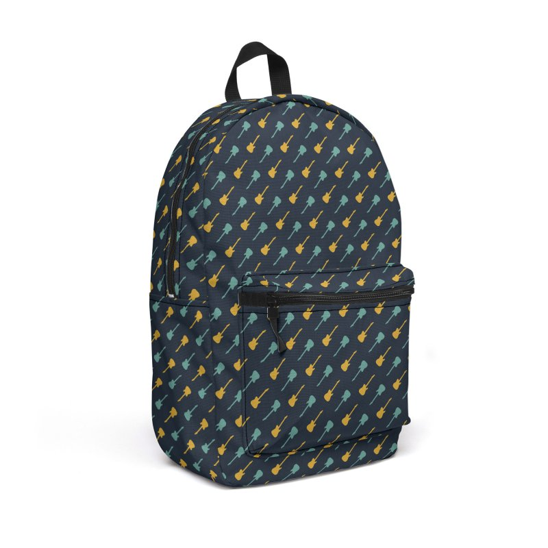 Guitar Motif Pattern Accessories Backpack Bag by Mr Loco Motif