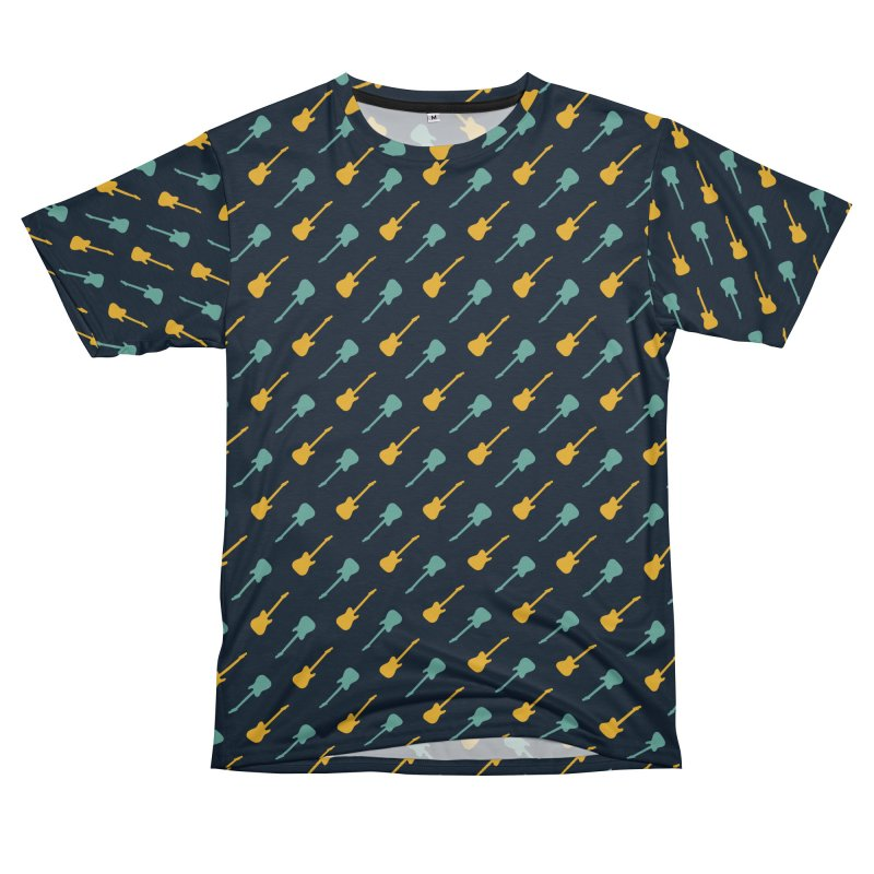 Guitar Motif Pattern Men's Cut & Sew by Mr Loco Motif