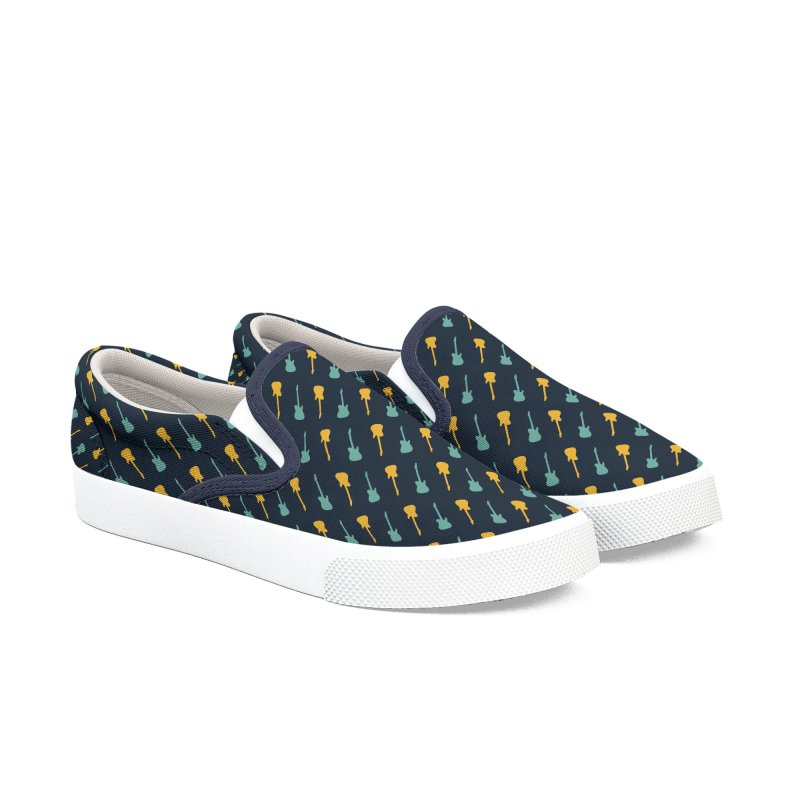 Guitar Motif Pattern Men's Slip-On Shoes by Mr Loco Motif - Artist Shop