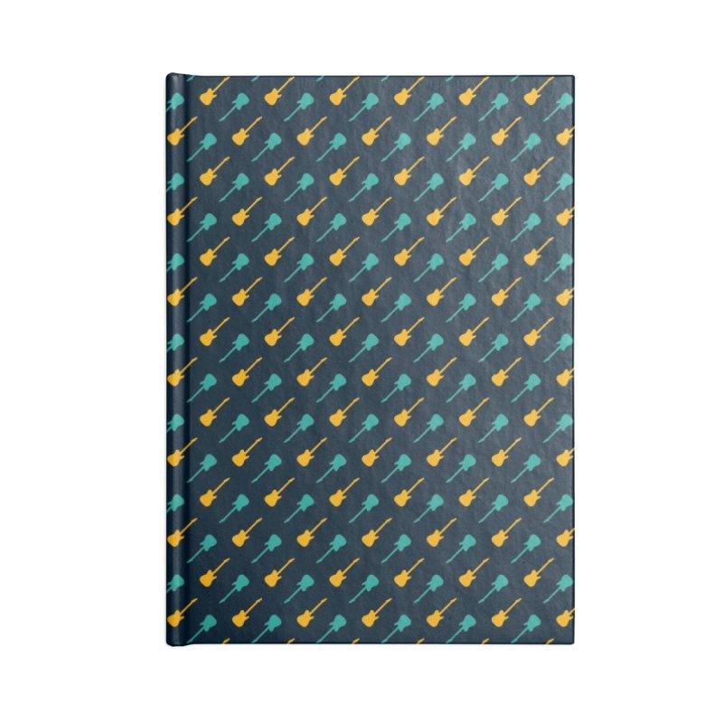 Guitar Motif Pattern Accessories Blank Journal Notebook by Mr Loco Motif - Artist Shop