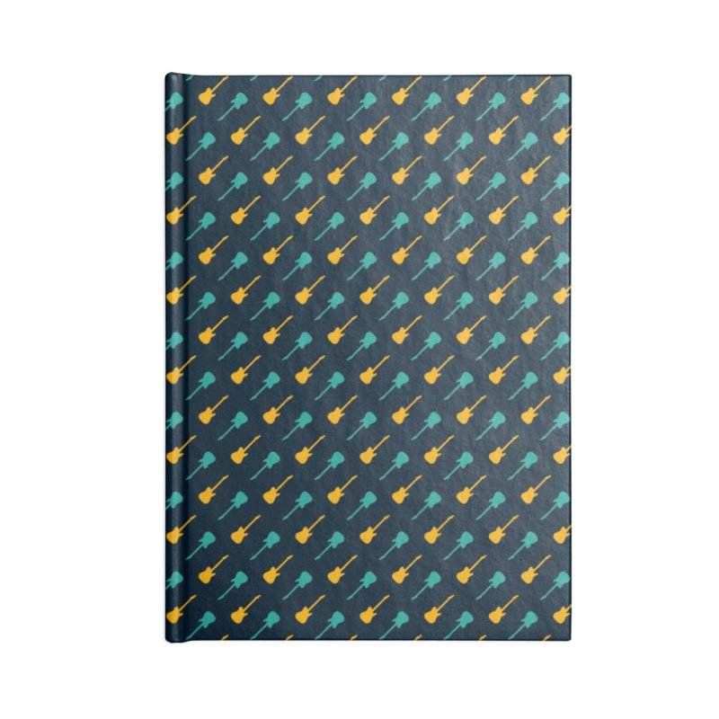 Guitar Motif Pattern Accessories Lined Journal Notebook by Mr Loco Motif - Artist Shop