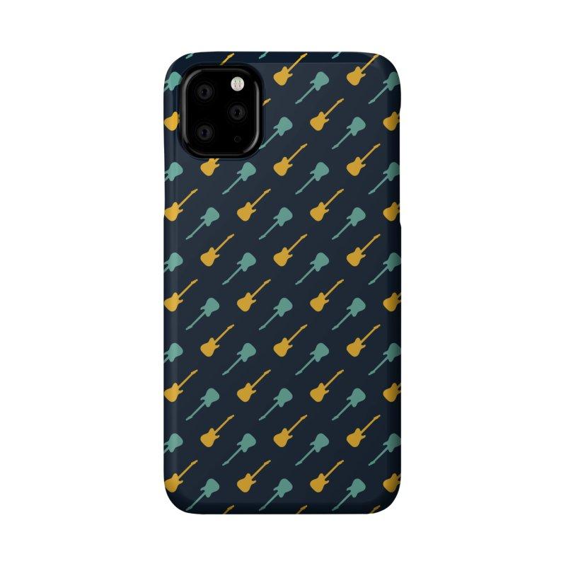 Guitar Motif Pattern Accessories Phone Case by Mr Loco Motif