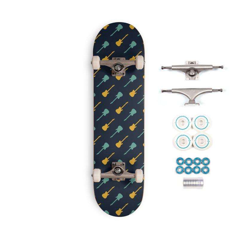 Guitar Motif Pattern Accessories Complete - Basic Skateboard by Mr Loco Motif - Artist Shop