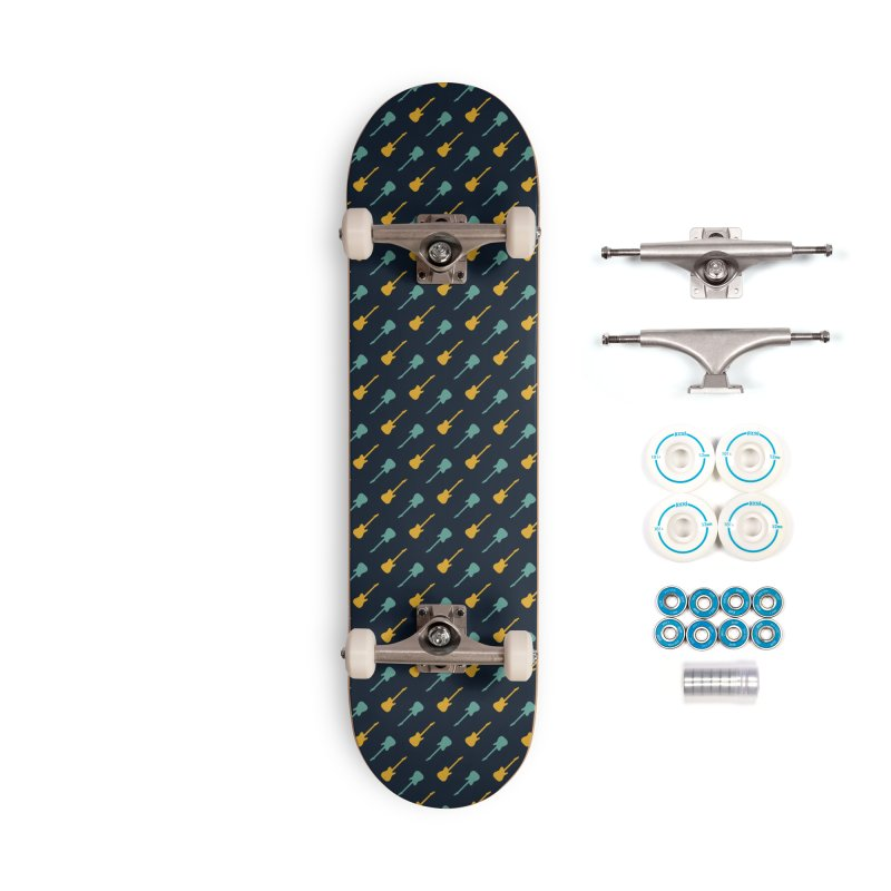 Guitar Motif Pattern Accessories Complete - Basic Skateboard by Mr Loco Motif