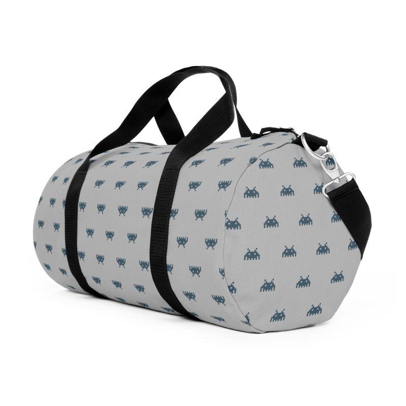 Alien Motif Pattern Accessories Duffel Bag Bag by Mr Loco Motif