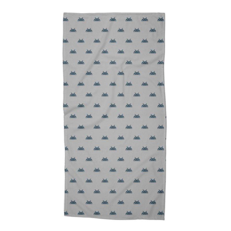 Alien Motif Pattern Accessories Beach Towel by Mr Loco Motif