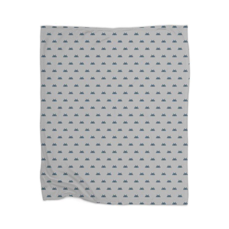 Alien Motif Pattern Home Blanket by Mr Loco Motif