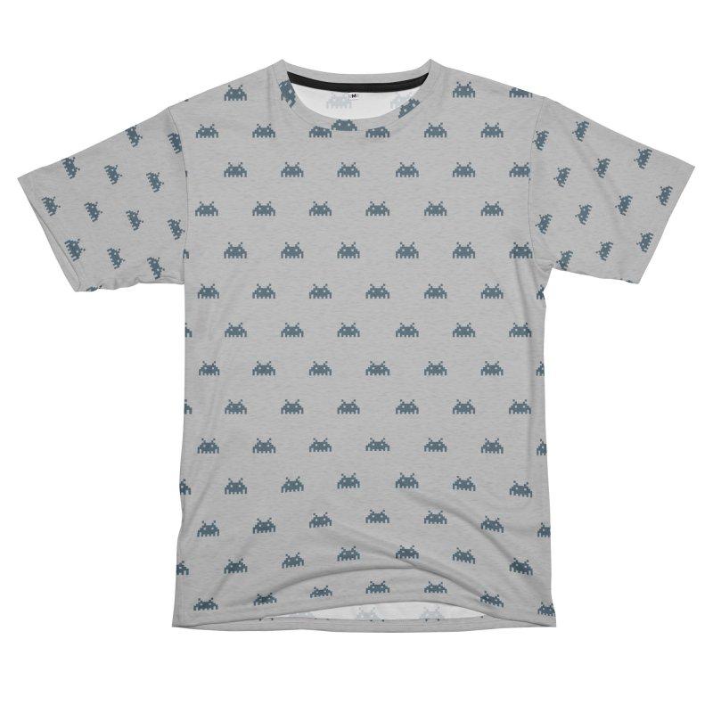 Alien Motif Pattern Men's French Terry T-Shirt Cut & Sew by Mr Loco Motif