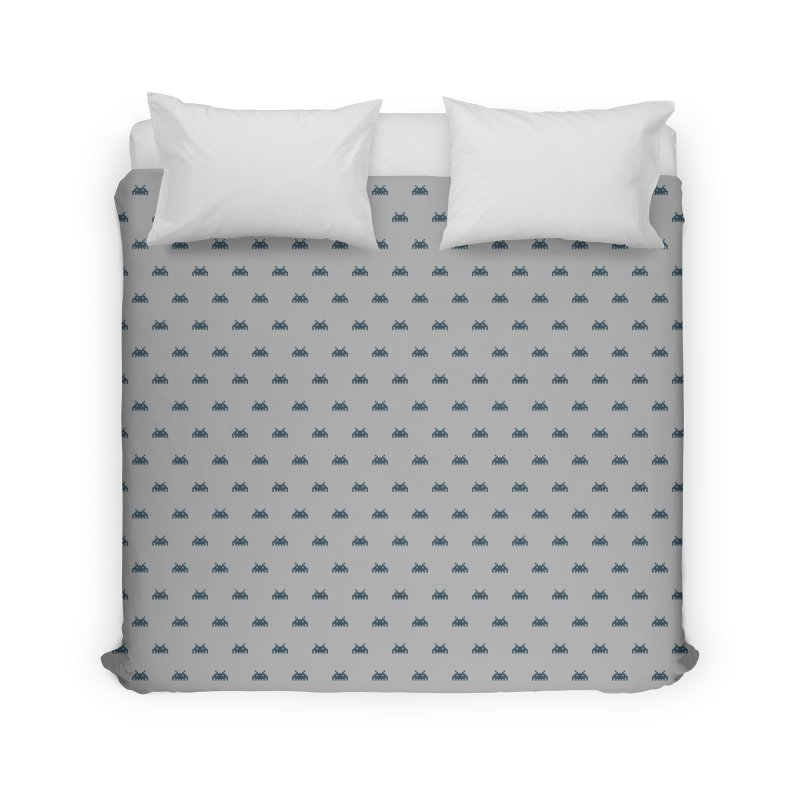 Alien Motif Pattern Home Duvet by Mr Loco Motif - Artist Shop