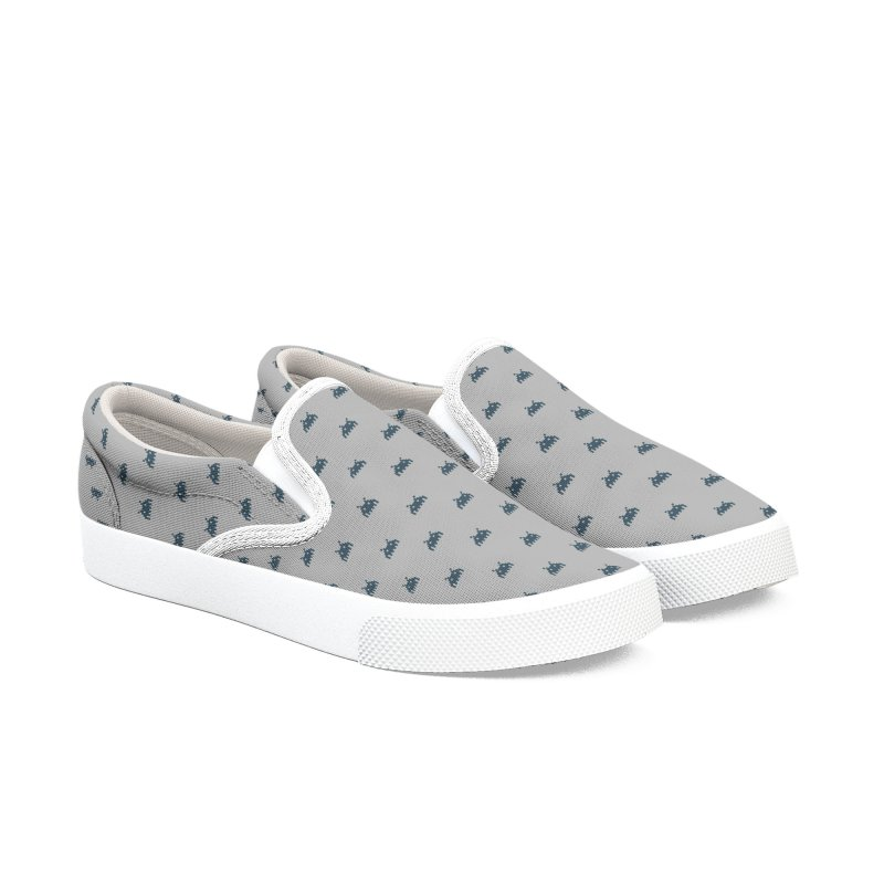 Alien Motif Pattern Men's Slip-On Shoes by Mr Loco Motif