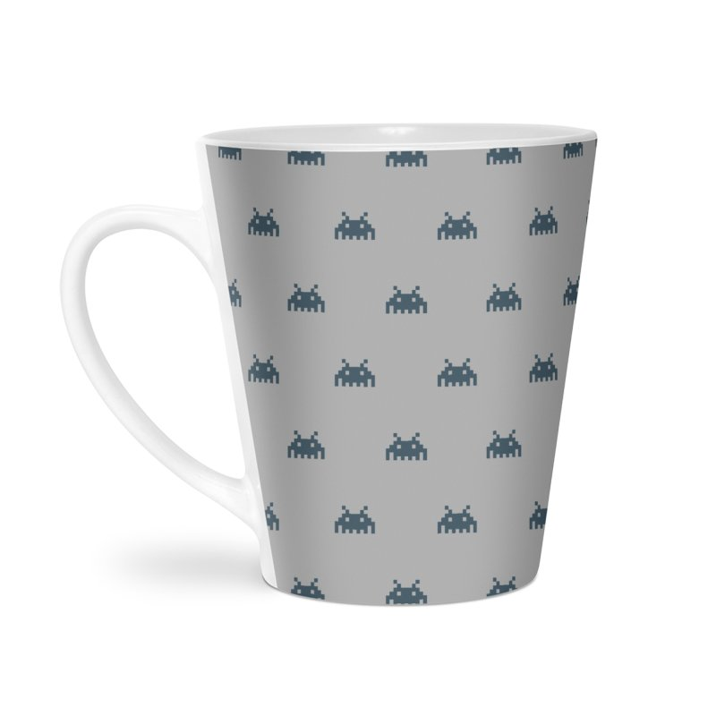 Alien Motif Pattern Accessories Latte Mug by Mr Loco Motif - Artist Shop