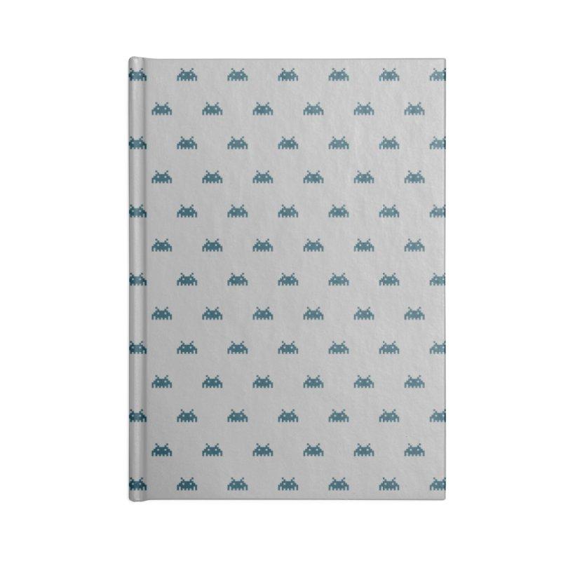 Alien Motif Pattern Accessories Lined Journal Notebook by Mr Loco Motif - Artist Shop