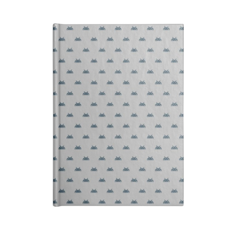Alien Motif Pattern Accessories Blank Journal Notebook by Mr Loco Motif