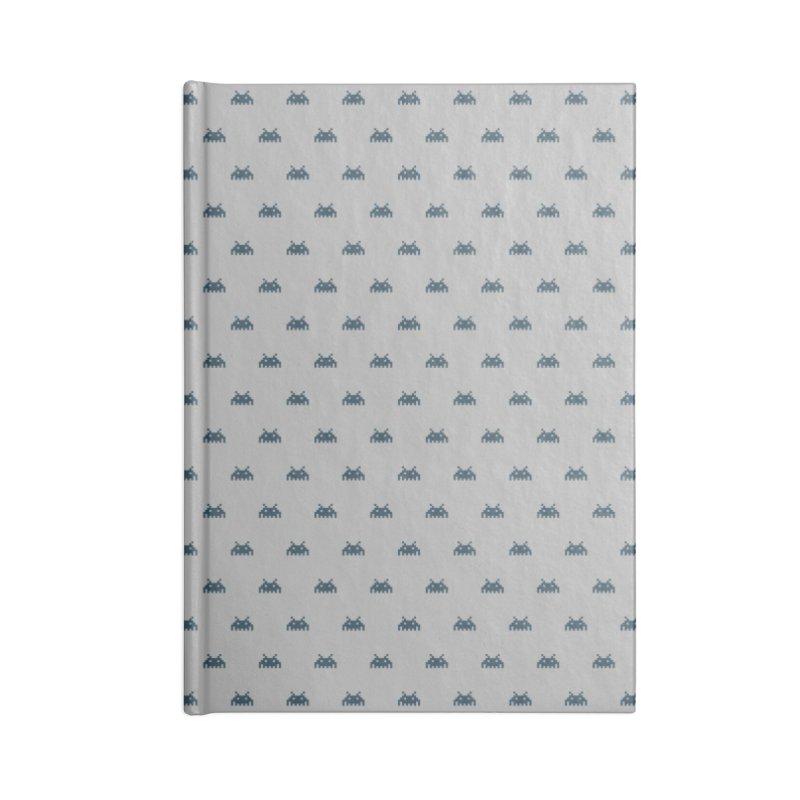 Alien Motif Pattern Accessories Lined Journal Notebook by Mr Loco Motif