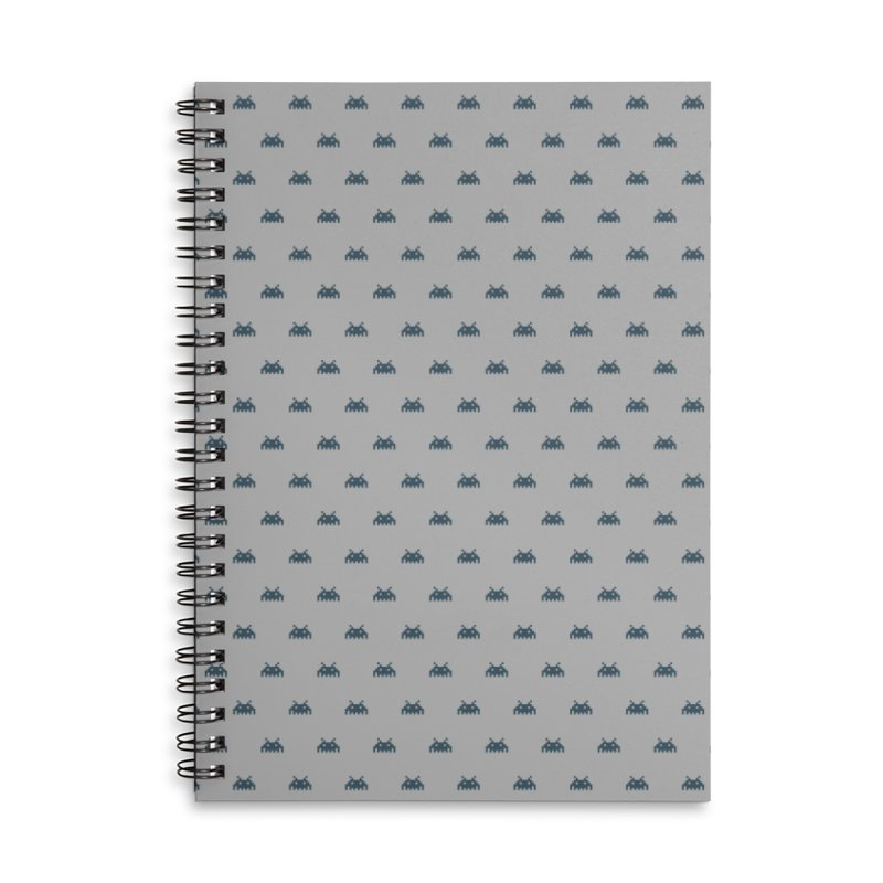 Alien Motif Pattern Accessories Lined Spiral Notebook by Mr Loco Motif