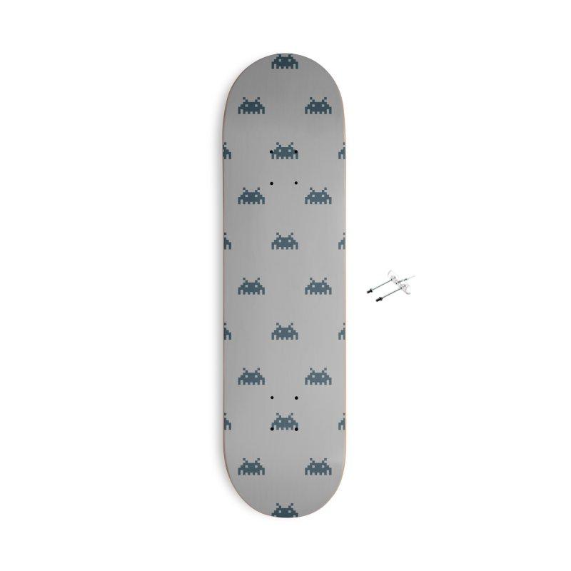 Alien Motif Pattern Accessories With Hanging Hardware Skateboard by Mr Loco Motif - Artist Shop