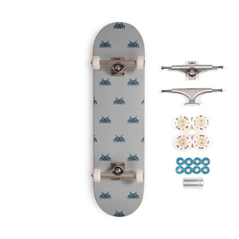 Alien Motif Pattern Accessories Complete - Premium Skateboard by Mr Loco Motif - Artist Shop