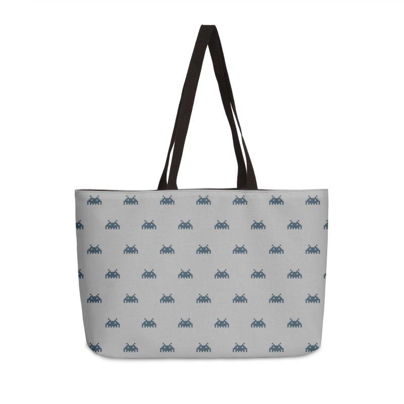 Alien Motif Pattern Accessories Weekender Bag Bag by Mr Loco Motif