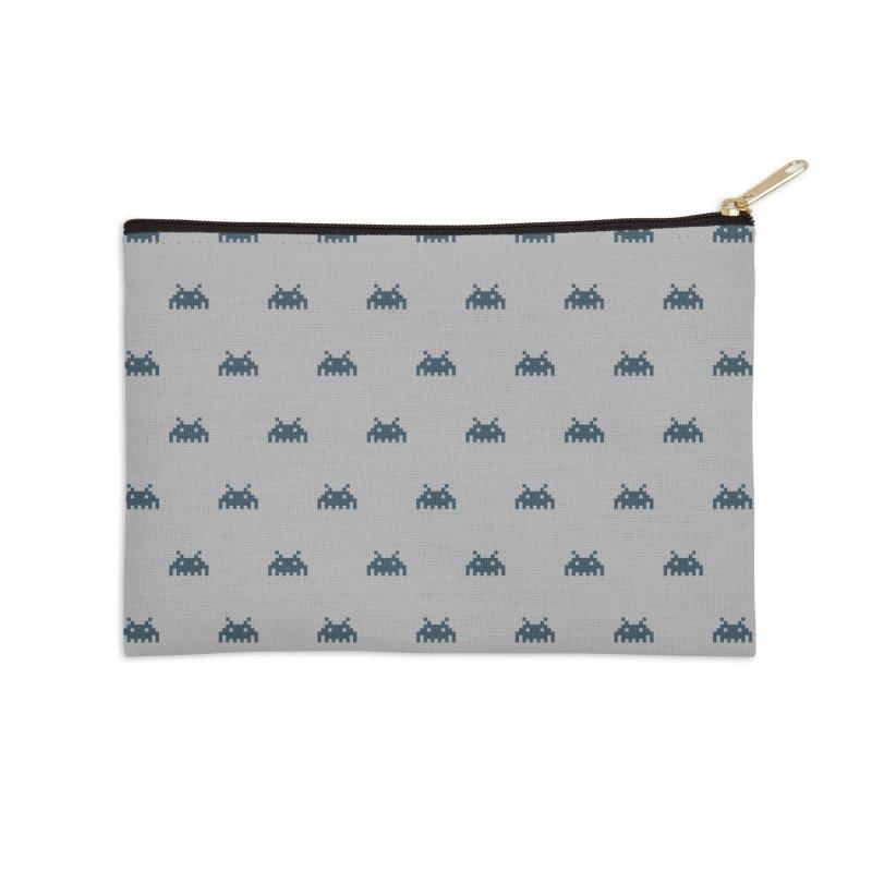 Alien Motif Pattern Accessories Zip Pouch by Mr Loco Motif