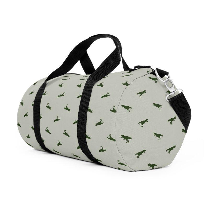 Rex Motif Pattern Accessories Duffel Bag Bag by Mr Loco Motif
