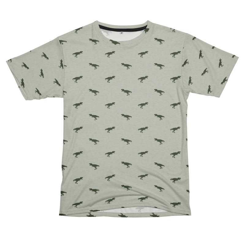Rex Motif Pattern Men's French Terry T-Shirt Cut & Sew by Mr Loco Motif