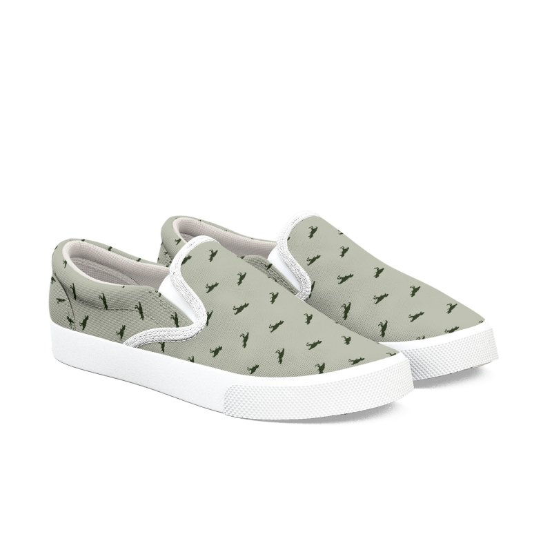 Rex Motif Pattern Men's Slip-On Shoes by Mr Loco Motif - Artist Shop