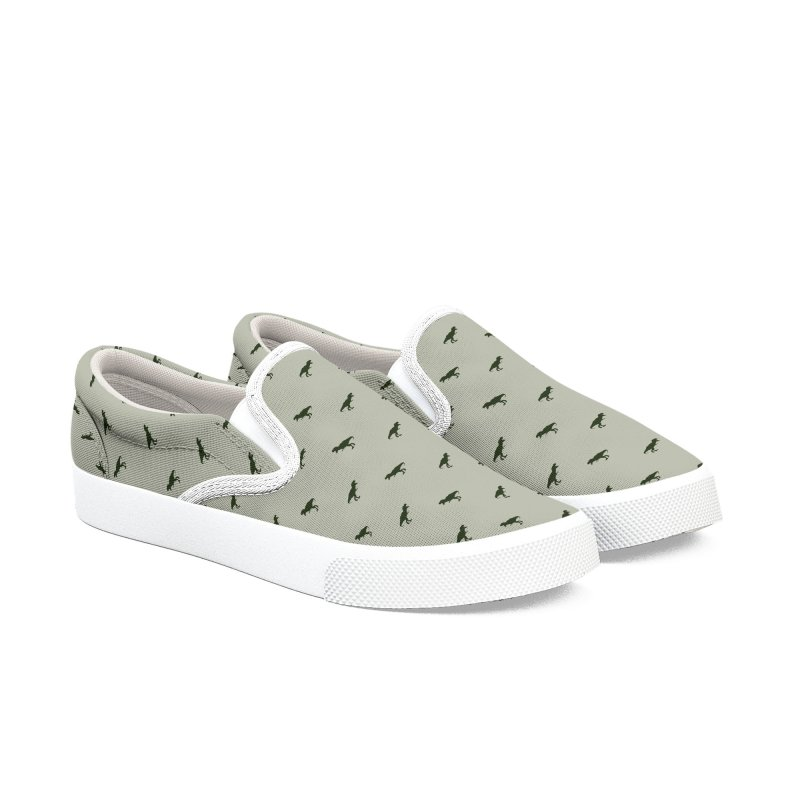 Rex Motif Pattern Men's Slip-On Shoes by Mr Loco Motif