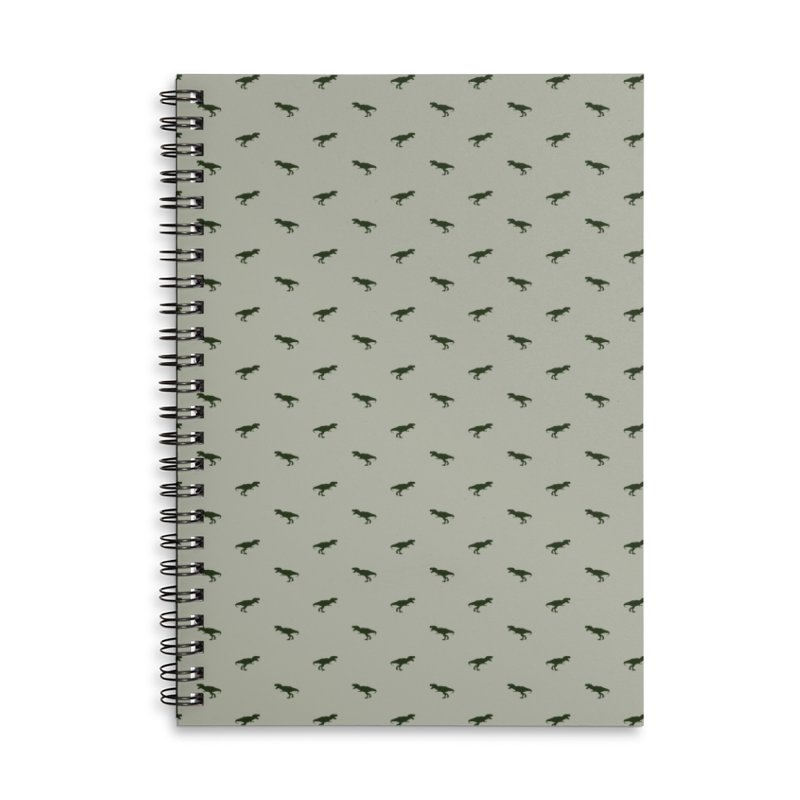 Rex Motif Pattern Accessories Lined Spiral Notebook by Mr Loco Motif