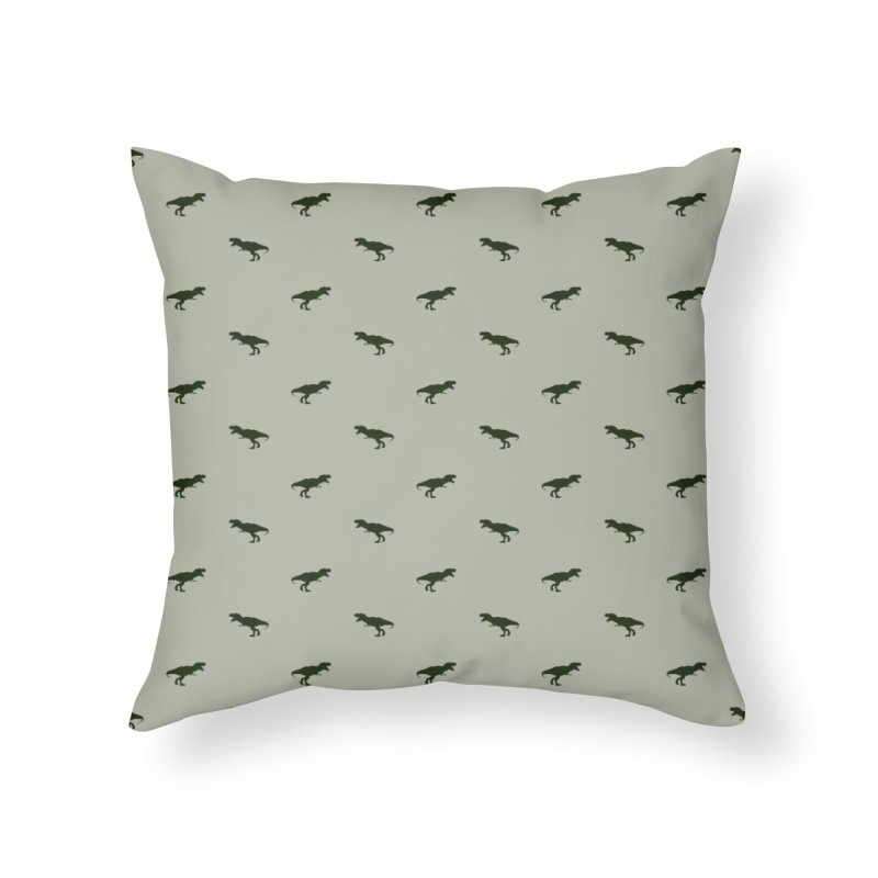 Rex Motif Pattern Home Throw Pillow by Mr Loco Motif